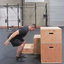 Plyometric Box Jump Exercise 6