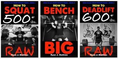 Squat, Bench Press and Deadlift Programs for powerlifting