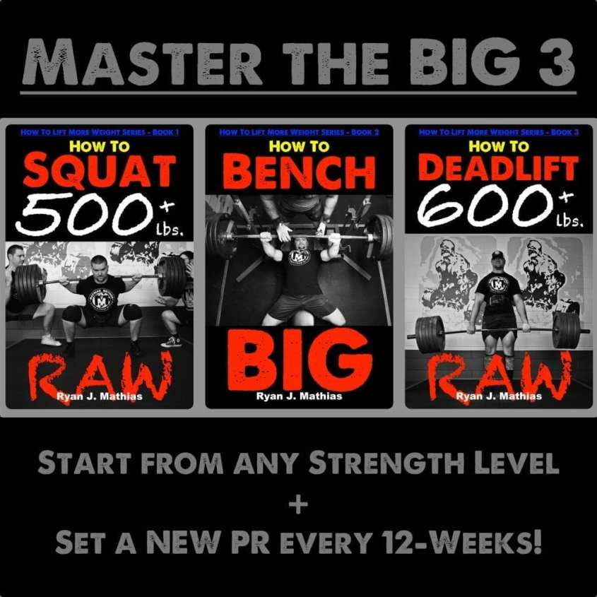 Squat Bench Press Deadlift Powerlifting Program for Strength