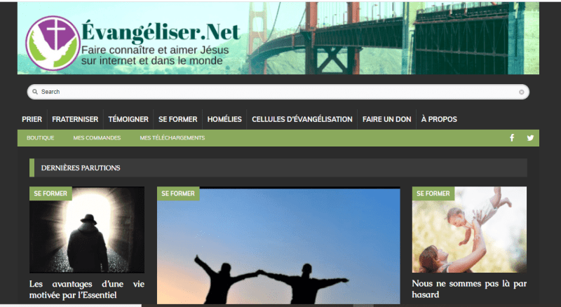 evangeliser.net screen schot