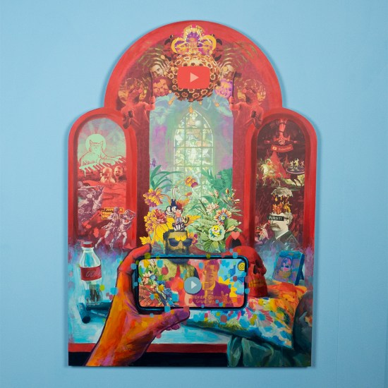 Sanctum of YouTube (2020) painting