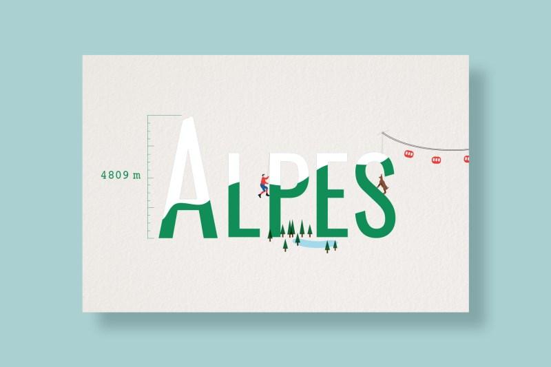 Carte Typostale Alpes