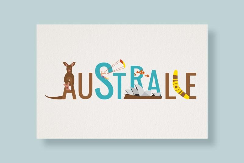 Carte Typostale Australie