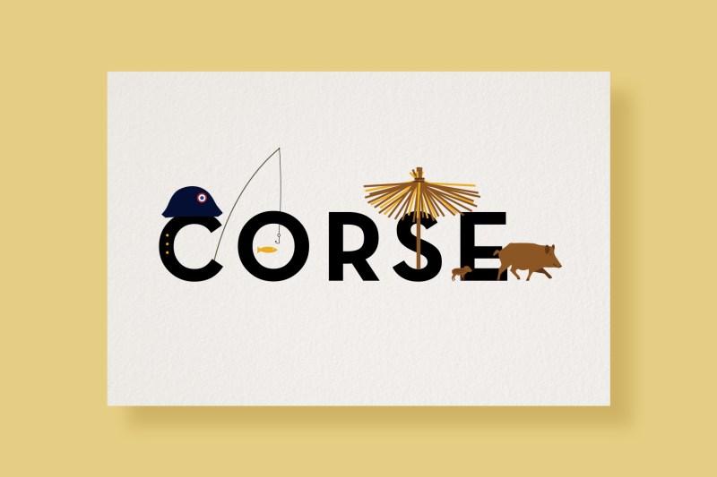 Carte Typostale Corse