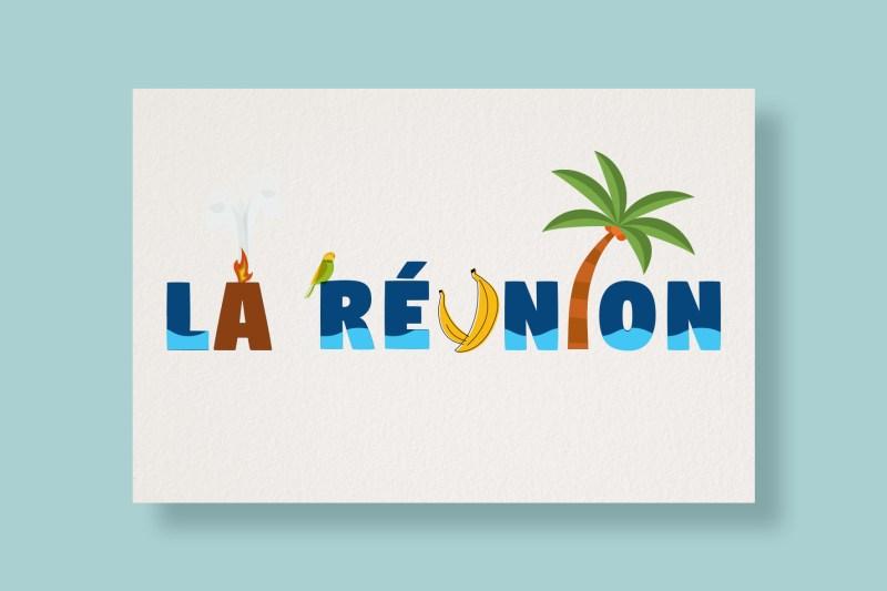 Carte Typostale La Réunion