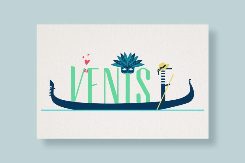 Carte Typostale Venise