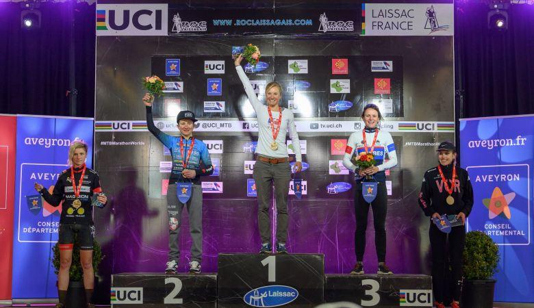 Podium femmes Roc Laissagais 2019 Marathon
