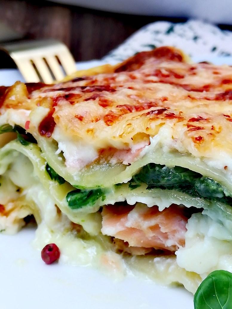 Lasagnes aux deux saumons et épinards4