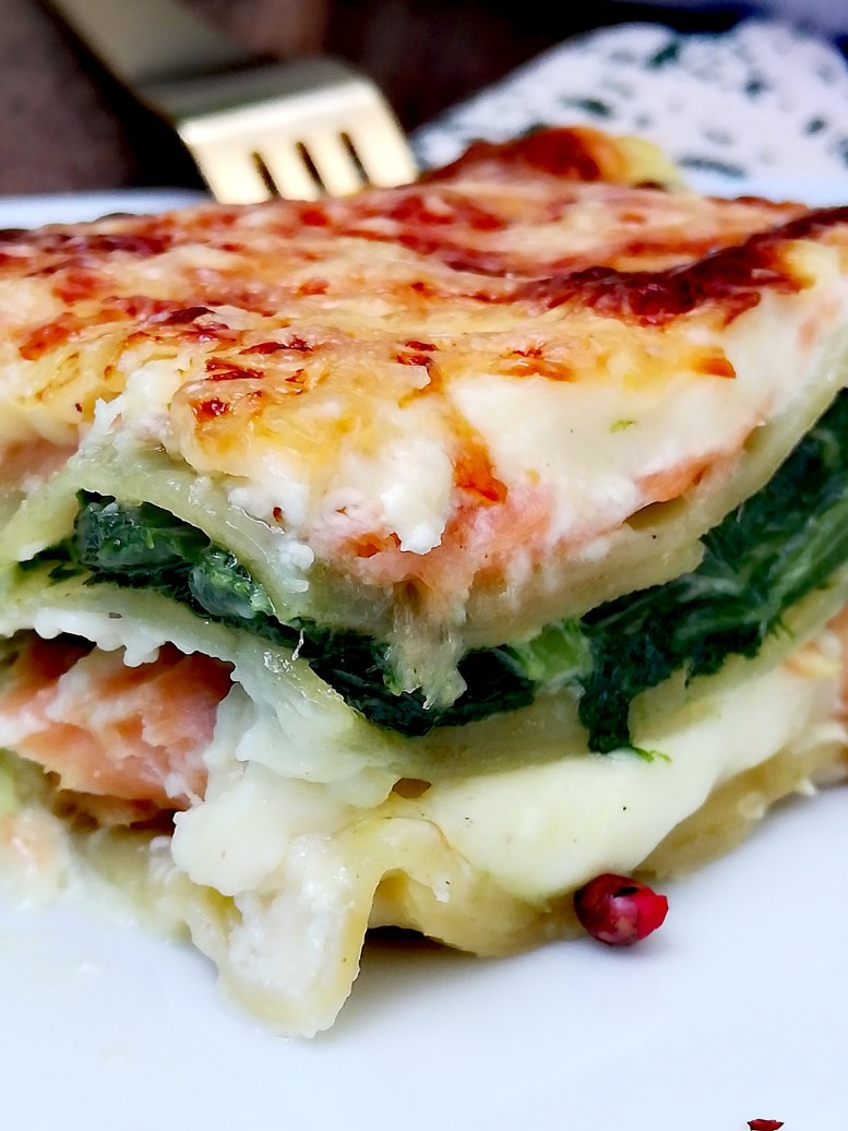 Lasagnes aux deux saumons et épinards6