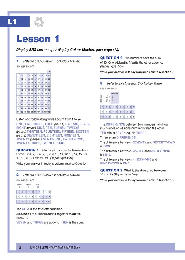 JEMM+ Lessons 1-5 Sample Material