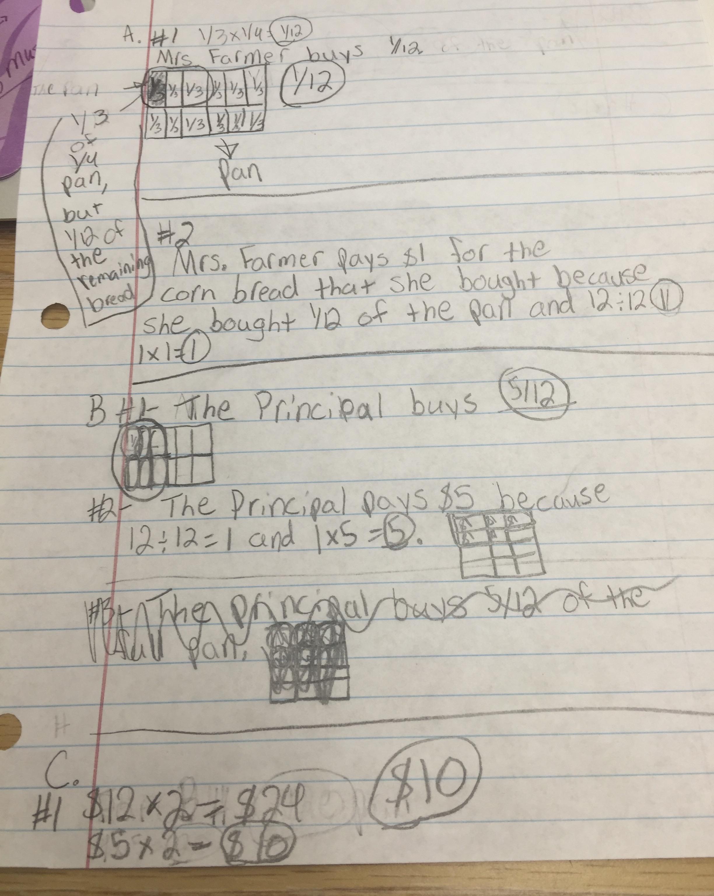 5th Grade Fraction Multiplication