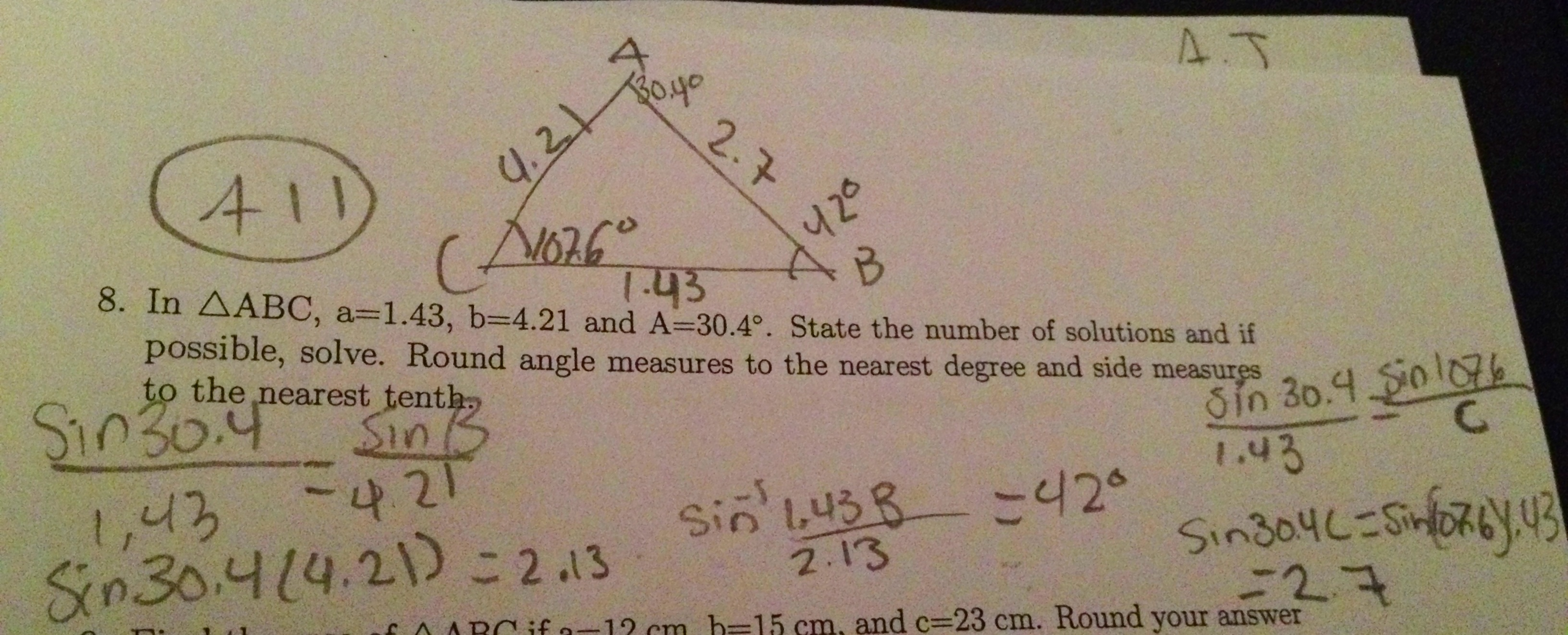 Law Of Sines Math Mistakes