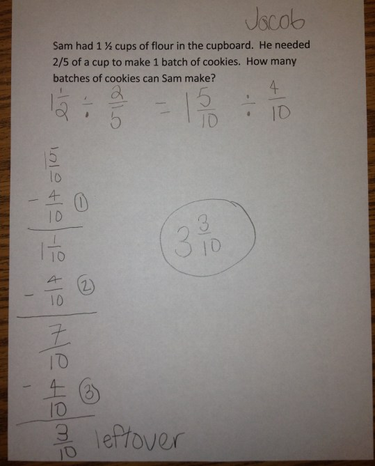 Dividing Fractions using Repeated Subtration 3-4-2014