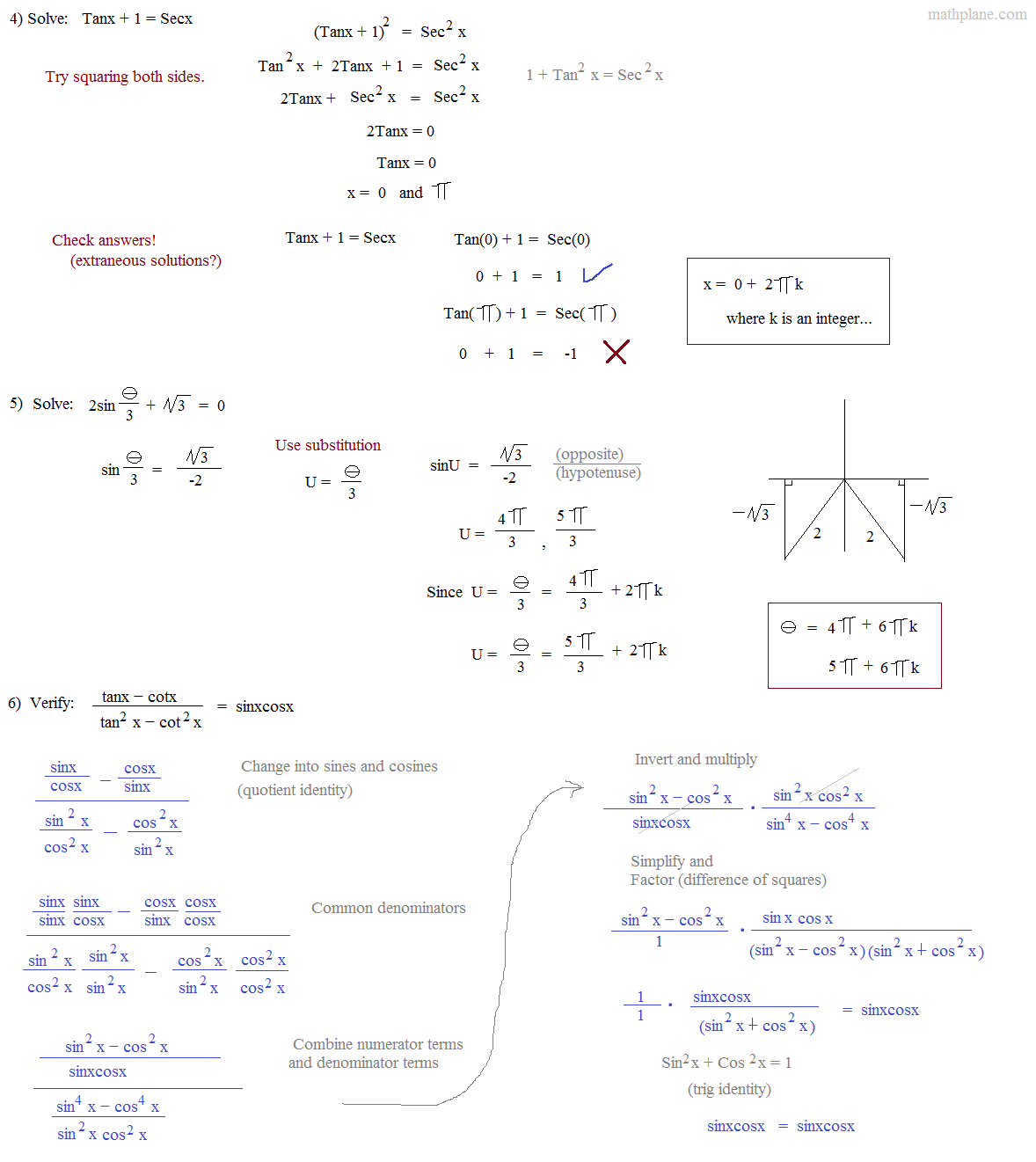 Worksheet Introduction Trig