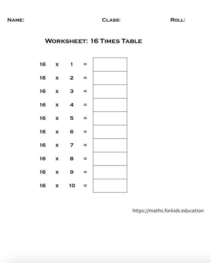worksheet table 16-min