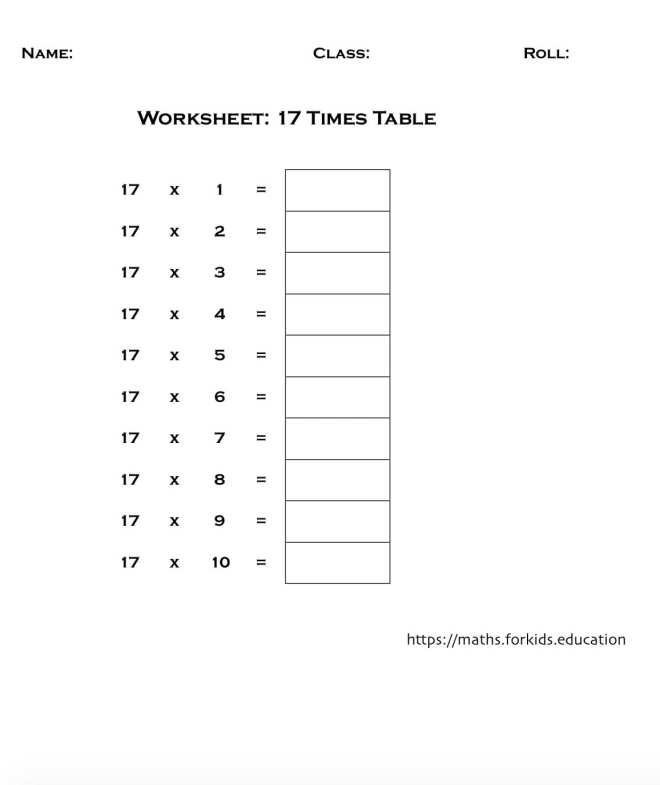 worksheet table 17-min