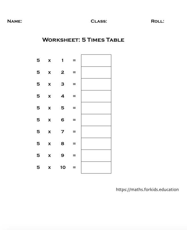 worksheet table 5-min