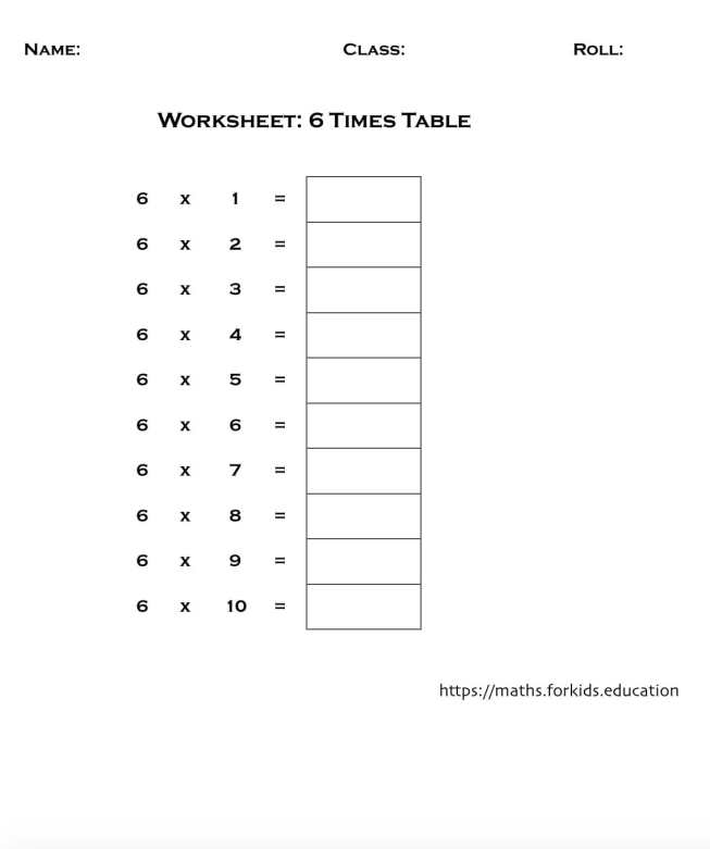 worksheet table 6-min
