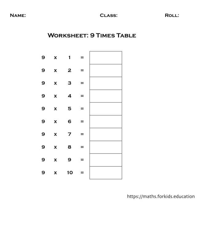 worksheet table 9-min