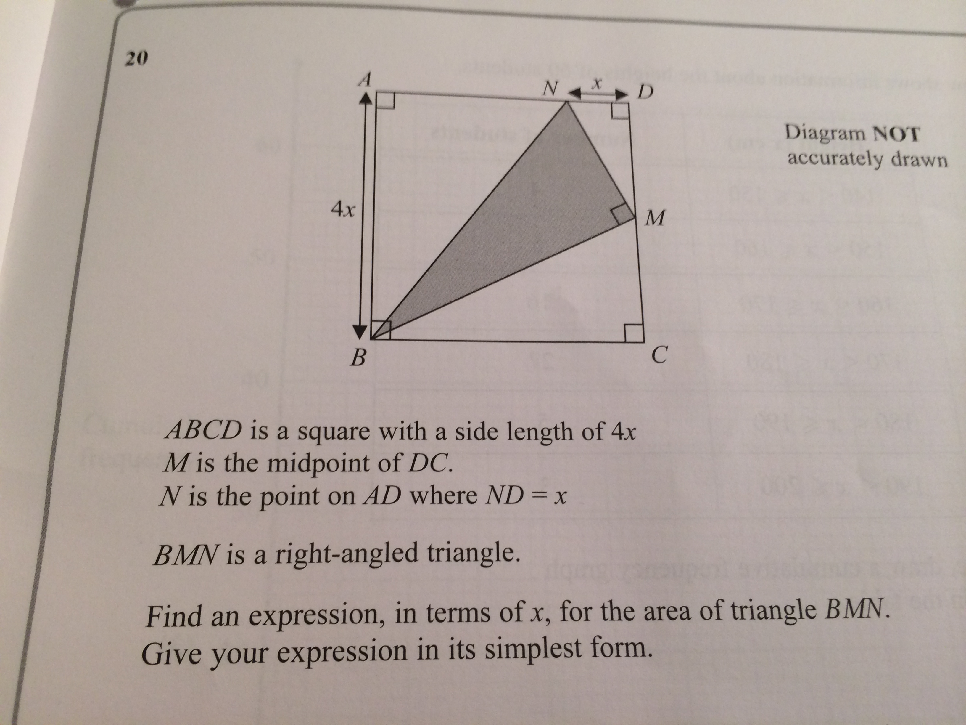 Past Exam Questions Standard Form Quadratic Completion Of Squares Amp Decimals Gcse
