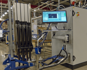 Figure 1: Production test system. Time on these systems is costly and needs to be kept as short as possible.