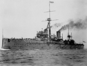 FIgure 1: HMS Dreadnought, the ship that changed naval gunnery.