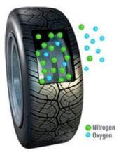 Figure 1: Nitrogen has advantages for inflating tires..