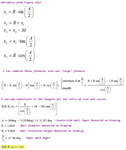 Figure 5(b): Derivation of Equation 2 and Example Calculation.