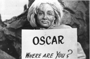 """Figure 2: Susan Oliver Clowning Around During Filming of """"The Cage""""."""
