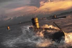 Figure 1: U-boat in the Atlantic.