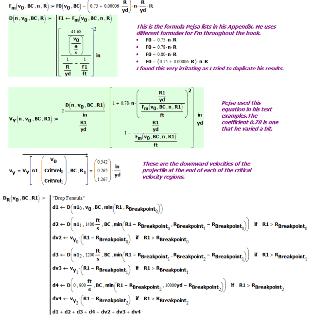 Figure M: Implementation of Drop and drop rate Equations.