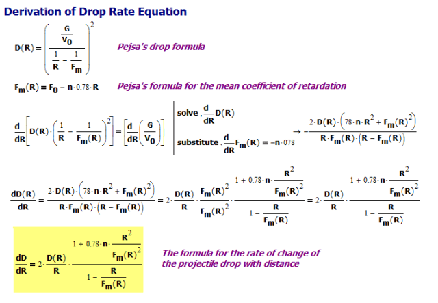 Figure M: Derivation of Drop Rate Equation.