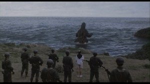 Figure 1: Godzilla Returning to the Sea.