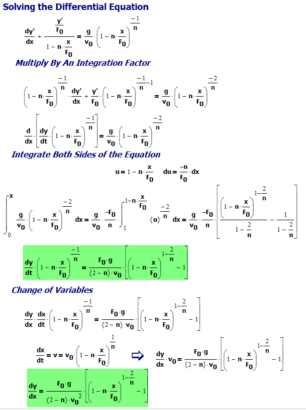 Figure 2: Solving The Differential Equation for y'.