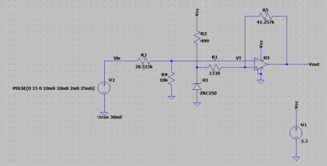 Figure 7: Circuit of Figure 1 with Component Values.