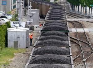 Figure 1: Coal Trains Are A Common Sight.