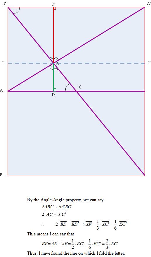 Figure 4: Geometry Behind Origami Method.