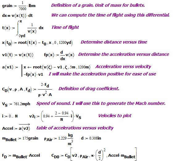 Figure 3: Generate a Vector of Drag Coefficients Versus a Velocity Vector.