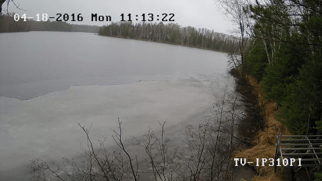 Figure 1: Remote Camera Showing the Ice Going OFF My Lake.