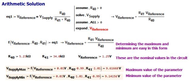 Figure 3: Minimum/Maximum Solution Using Arithmetic Approach.