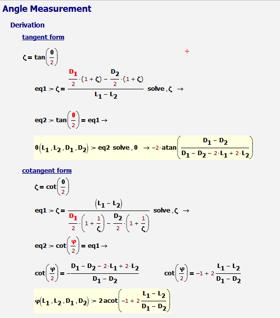 Figure 3: Derivation of Angle Relationship.