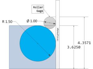Figure 1: Bullnose Radius Measurement Example.