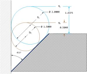 Figure 1: Chamfer Angle Measurement Example Using Two Gage Balls.
