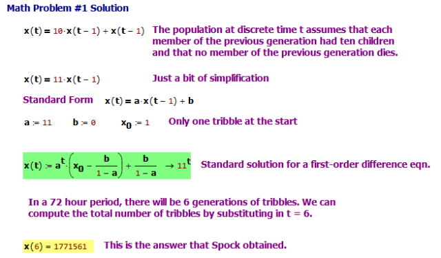 Figure 3: Math Problem #1 Solutio
