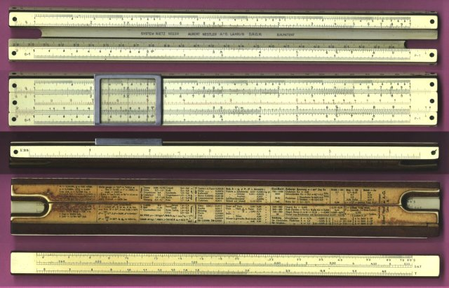 Figure 4: Detailed Photo of Nestler 23 Slide Rule.