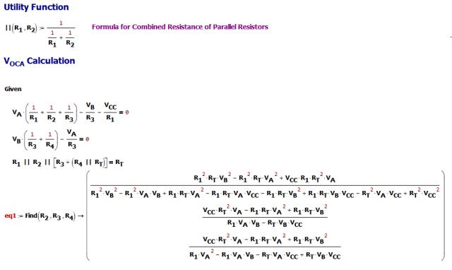 Figure M: Derivation of Resistance Formulas.