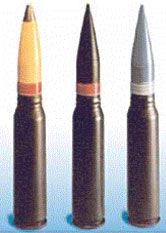 Figure 2: Three Types of 30 mm GAU-8 Rounds. (Source)