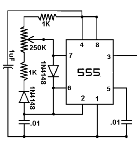 Figure 1: 555 Timer Circuit Causing Analysis Issues.