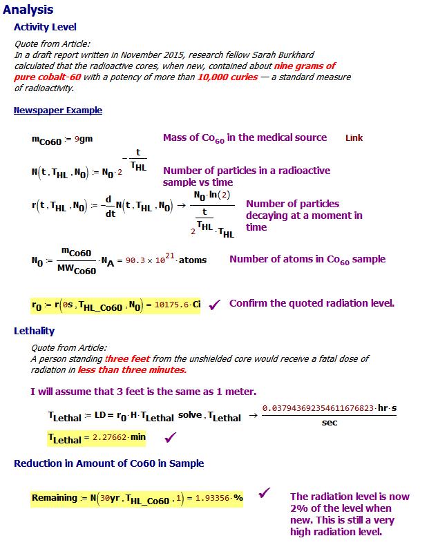 Figure 3: Mathcad Calculations.