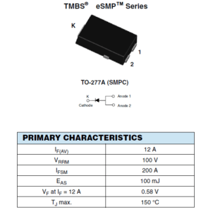Figure 1: Commutation diode used for switching power supply.